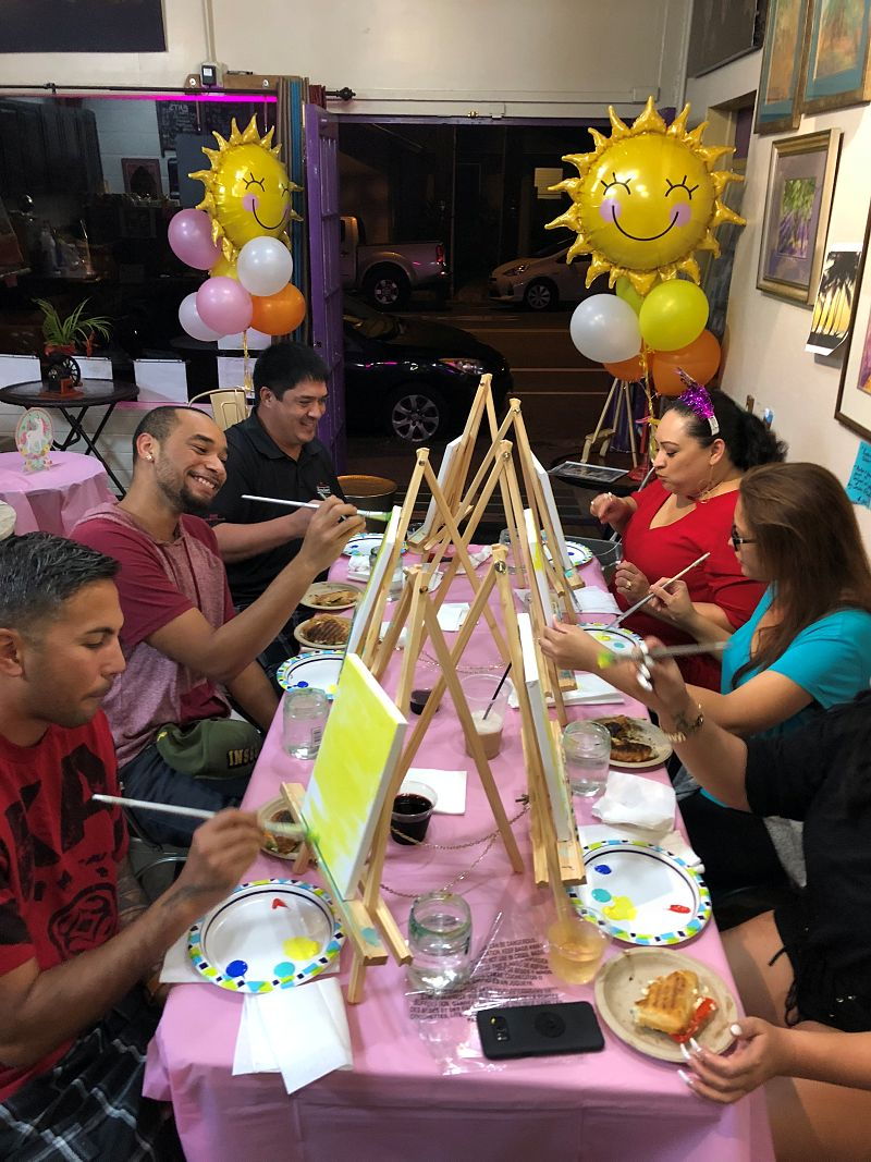 Painting Party in Honolulu